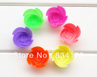 10 X The silicone cake mould mini 3 cm small chocolate ice DIY die rose Free Shipping