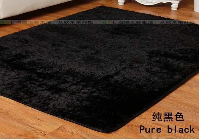 Melhor qualidade de 80 * 120 centímetros do tapete preto tapetes macios e tapetes de carpete quarto tapetes tapete vivem para crianças Frete grátis(China (Mainland))