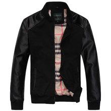 Autunm Winter Men's Fashion Casual Warm Big Size Slim Wind Coat Jacket Slim Blazer Suit, Size M-XXL, 2 Colors Free Shipping(China (Mainland))