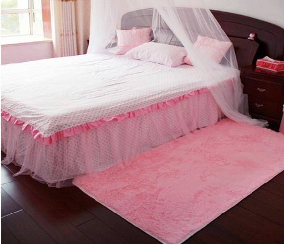 Melhor qualidade 80 * 120 centímetros moda rosa tapete sofá tapetes Os tapetes de tapete de oração criança suave inverno tapete antiderrapante Frete grátis(China (Mainland))