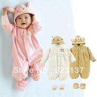 newborn baby  rompers bb autumn 0-1 year old children's baby clothing set bodysuit