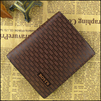 2013 New Stylish Male Short Design Plaid Wallets Men's Check Cowhide Genuine Leather Card Holder Wallet