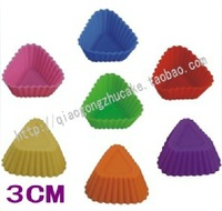 10 XThe silicone cake mould 3 cm triangle model ice chocolate pudding DIY mould Free Shipping