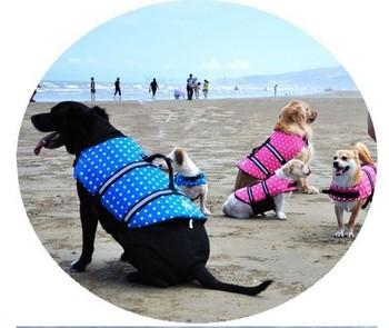 Pet Dog SAFETY VESTS Aid Life Vest Coat Flotation Jacket Buoyancy Swimming Water