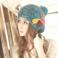 Женская шапка christmas holiday sale Fashion Rivet decoration hat for women Acrylic yarn crochet beanie for winter