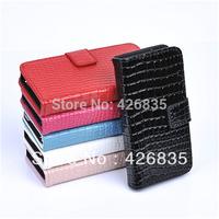For Samsung Galaxy S4 Case, Croco Wallet Case for Samsung Galaxy S4 i9500, 200pcs/lot 50pcs per color Free Shipping