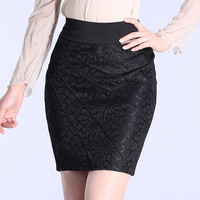 Stella free shipping 9111 2013 female slim hip short skirt step elastic lace skirt bust skirt medium skirt plus size