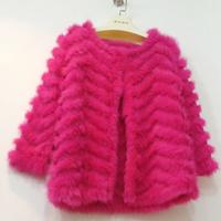 Rabbit fur knitted fur coat medium-long 2013 knitted handmade corrugated fur free shipping