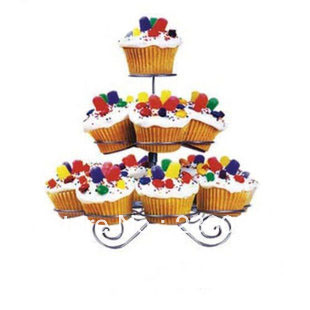 New Cupcake Stand Tree Holder Muffin Serving Birthday Cake 13 Cup Party 3 Tier(China (Mainland))