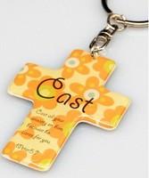 "20 pcs Christian gift  cross religious Key ring keychain promotional gift "" Cast """