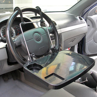Laptop car mount steering wheel car multifunctional folding work table car computer rack dining table
