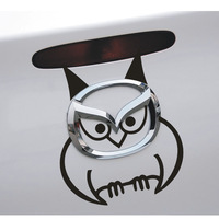 Mazda logo sticker mazda3 lack mazda6 mazda2 Star Gallop M5 M6 reflective logo to stick the owl post