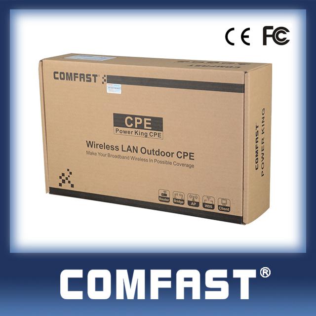 2.4g ad alta potenza wireless ponte/cpe tronco l'esterno del grado di ingegneria AP copertura poe spedizione gratuita 400mw comfastcf- e316n