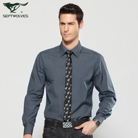 After 459 ! SEPTWOLVES long-sleeve shirt male shirt men's clothing 1048