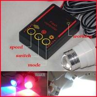 Freeshipping high power  4x10W  12VDC 1 in 4 car brake reverse strobe drl eagle eye lamp led light white, red with blue