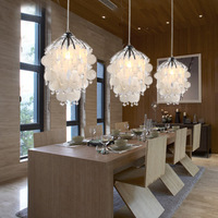 modern  brief  fashion  Rustic restaurant  graps  shell  ceiling light