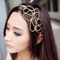 3088 European and American popular retro hollow flowers Hairband  Fashion Hair Accessory Headwraps