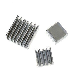 Aluminum Heatsink set for Raspberry Pi - Set of 3 Heat Sinks Free Shipping