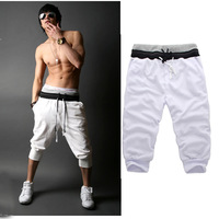 Free shipping 2014 new men's sports shorts pants  drawstring loose pants casual shorts outwear top brand  four colors  B439