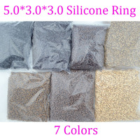 10*5000pcs/bag 5.0mm*3.0mm*3.0mm Micro Silicone Rings/Links/Beads,  Hair Extensions tool, 7 Colors Optional