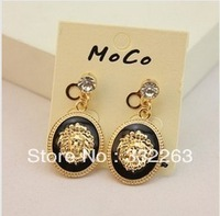 Min.order is $10 (mix order) Fashion woman metallic Lionhead avatar earring