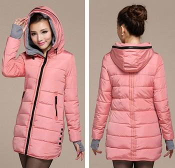 Женская хлопка-ватник 2013 зима средней длины вниз хлопка плюс размер куртки женские ...