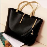 The new wave of big bag big European and American fashion women's singles shoulder bag fashion leisure bag handbag hand