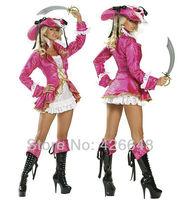Free shipping new arrive purple sexy pirate costumes, sexy women costumes,stylish halloween apparel