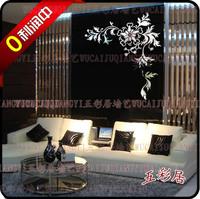 Wholesale Luxury Ikea DIY Acrylic 3D Wall Mirror Stickers Romantic Flower Vine 2mm Thick rWall Decal ,Wallpaper, Room Sticker