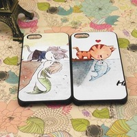 New Case cover for iphone 5 5s 5g Embossed colored drawing for cat protective case fish lovers mobile