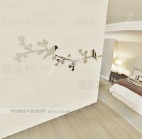 Wholesale Ikea Style Acrylic Entranceway Bird and Tree Mirror Wall Sticker Wall Decal Wallpaper Home Decor