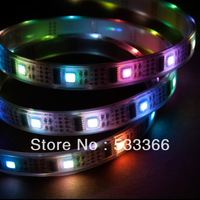 Free Shipping 1M WS2801 IC 32LEDs/M 5050 SMD RGB Digital LED Strip Addressable 5V Waterproof