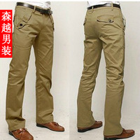 Easy care men's skinny casual pants straight pants autumn pants male casual khaki pants male