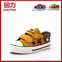 2013 WARRIOR autumn children shoes child canvas shoes male child single shoes velcro cartoon glasses bear shoes 8169