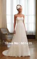 Freeshipping! WR8926 Sweetheart Lace Empire Waist Plus Size Maternity Wedding Dress for Pregnant Woman