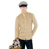 Autumn 2013 male corduroy long-sleeve shirt slim shirt male