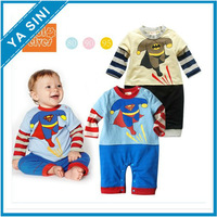 2014 Hot selling boys suit new male baby long sleeve styling Superman Romper jumpsuit Free shipping