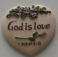 10 pcs Christian Religious refrigerator stickers refrigerator magnet Stickers  fridge magnet - God is love