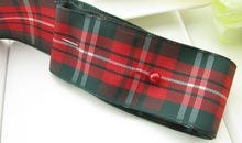 Free shipping 50 Yards 1 25mm width styles polyester scottish tartan gingham ribbon bow decorative