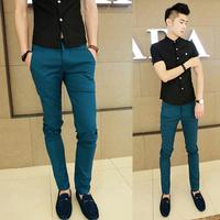 Fashion cool autumn men's skinny pants casual pants slim long trousers male thin casual pants
