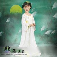 Costume plate high waist skirt jacket child costume white little daisy