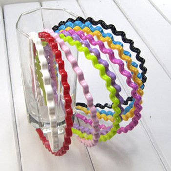 4011 Korean Candy Color Plastic Waves Hairband  Fashion Hair Accessory