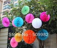 Mixed Sizes 5+8+15+20+25+30cm Lot of 445pcs Tissue Paper Honeycomb Balls Decorations Honeycomb Paper Decorations Christmas