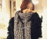 2013 autumn and winter ultra long fluffy thick yarn knitted scarf muffler scarf thickening free shipping