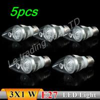 5pcs/lot 2013 NEW Model E27 3W AC85~265V LED Bulb Light Spot Light LED Light Lamp High quality