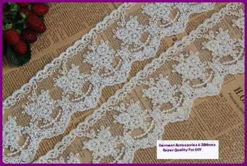 9CM Wide 10Yards/Lot Wholesale Cheap Handmade DIY Cloths Accessaries Victoria 100% Cotton Crochet Lace Trim,Lace Ribbon Fabric