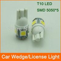 10pcs/lot high power T10 Car LED Wedge Light dome Lamp W5W SMD 5050 luggage light car reading light