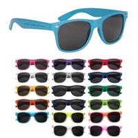 2013 Vintage Brand Unisex Promotional Advertising Custom Plain Solid Malibu Sunglasses BLACK LENSES+FREE SHIPPING 6223