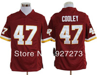 Wholesale Washington #47 Cooley Jerseys Cheap American Football Jersey Embroidery Logo Free Shipping Red White S-3XL 40-60