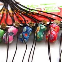 1ml peanut clay bottle necklace handmade small perfume bottle exquisite hong bottles